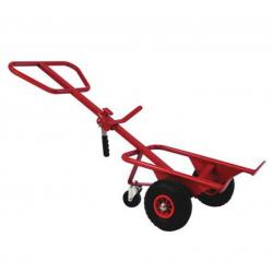 Chariot Diable acier FIMM pour fûts plastiques et métalliques 220L Roue...