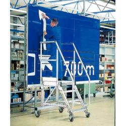 Escabeau Plate forme TUBESCA en aluminium 5 marches H de travail 3.18 m -...