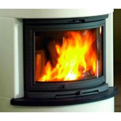 Foyer de cheminée à bois 10 kW DOVRE 2000CBBS porte incurvée NEUF