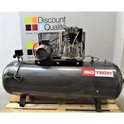 Compresseur d'air d'atelier  triphasé 500 L  7.5 CV  ISOTECH NEUF déclassé