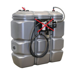 Cuve de stockage à Fioul/Gasoil/Adblue 1500L PEHD DP SODISE 08129 NEUVE...