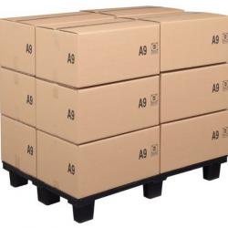 Lot de 10 palettes légères emboitables avec semelle 100x120 cm A029301 NEUVES
