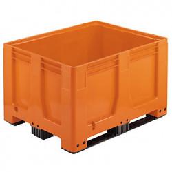 Caisse palette pleine gerbable en PEHD  3 semelles 610  L  MAXILOG 1200 x...