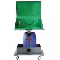 Fontaine de dégraissage à solvant  mobile 60 L avec pompe électrique SGD NEUVE