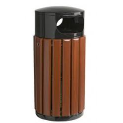 Poubelle rosa 60 litres gris bois LC01274D NEUVE déclassée