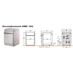 Préparateur eau chaude sanitaire 150 L anode titane OERTLI - DE DIETRICH OBD...