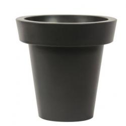 Pot de fleur extérieur design anthracite en polyéthylène 420 L  Hauteur 100...