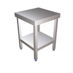 Table centrale en inox avec étagère 500 x 500 x 850 mm LIONINOX NEUVE