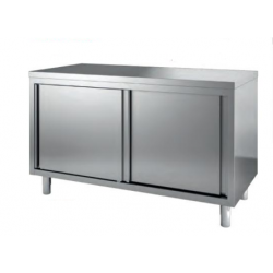 Meuble bas inox avec portes coulissantes 1200 x 700 mm GAFIC  NEUF