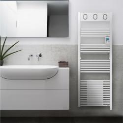 Sèche serviettes électrique SAUTER à inertie fluide soufflant digital 1500 W...