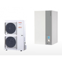 Ensemble de pompe à chaleur air / eau split inverter mono 11Kw ATLANTIC Alféa...
