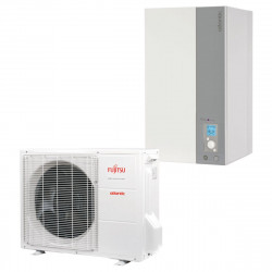 Ensemble pompe à chaleur split air / eau inverter 10 kW monophasé ATLANTIC...