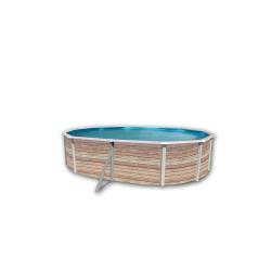 Piscine ovale hors sol structure acier 550 x 366 x H120 cm TOI Pinus 8380 NEUVE