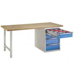 Etabli fixe Servante atelier 4 tiroirs 200 x 70 cm Plateau multiplis...