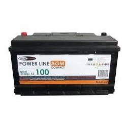 Batterie auxiliaire AGM à décharge lente Grande capacité  12 V 100 Ah pour...