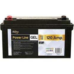 Batterie auxiliaire gel ELEKTRON 12 V 120 Ah à décharge lente pour véhicule...