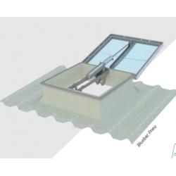 Lanterneau Fenêtre de toit pneumatique sur embase 110 / 110 pour toiture...