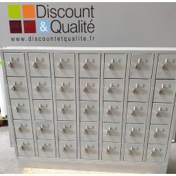 Armoire Vestiaire à effet personnel mural 35 casiers 1380 x 150 x 1100 mm GS...