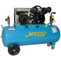Compresseur d'air mobile monophasé bicylindre  3 CV 100 L  JETCO NEUF déclassé