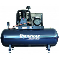 Compresseur fixe à courroie  bi cylindre 500 L triphasé  10 CV  7.5 kW...