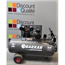 Compresseur bicylindre monophasé 200 litres 3 cv  2.2 kW DRAKKAR NEUF déclassé