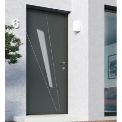 Porte d'entrée en aluminium Gris Anthracite 210 x 105 cm  K LINE Modèle...