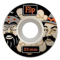Lot de 4 paquets de 4 roues de skateboard en uréthane Diamètre 53 mm FLIP...