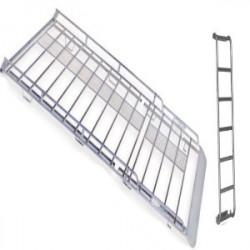 Galerie aluminium + échelle fixe + déflecteur+ rouleau 3750 x 1750 pour L3H2...