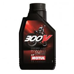 Bidon 1L huile moteur 4 T pour moto MOTUL 300V FACTORY LINE 5W40 104112 NEUF