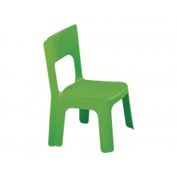 Lot de 4 chaises vertes empilables taille moyenne T0 et T1 hauteur assise...