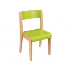 Lot de 2 chaises vertes empilables taille T1 hauteur assise 26 cm WESCO...