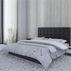 Tête de lit en simili cuir capitonnée Noire Hauteur 1.20 m Largeur 1.80 m...