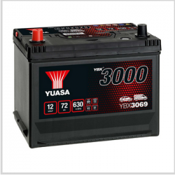 Batterie YUASA YBX3069 12 V 72 Ah 570 A 3000  NEUVE