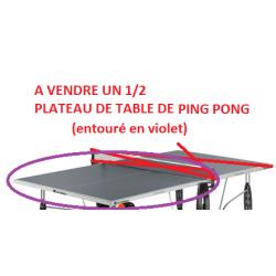 Demi plateau table - Top  de ping pong d'extérieur grise 137 x 76 cm...
