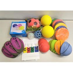 Lot Balles Ballons Disques volants WESCO pour activité sportive extérieure NEUF