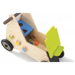 Porteur - Trotteur en bois 2 en 1 WESCO Woody  pour marche enfant NEUF