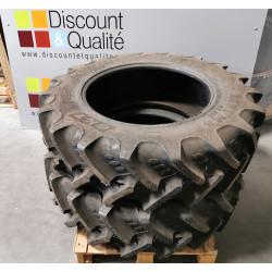 Lot de 2 pneus 340/85R28 855E 127A BKT AGRIMAX RT double marquage  NEUF