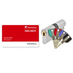 Cylindre double Haute sécurité ASSA ABLOY Radialis P7101RIS 32.5 x 32.5  avec...