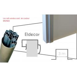 Pack pratique de rails PLACARDECOR 3 vantaux pour placard à porte coulissante...