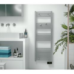 Sèche serviette électrique SAUTER 500 W  Gorelli Digital Slim Gris Perle...
