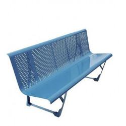 Banc métal 2 m ANJOU  Bleu A202083 NEUF