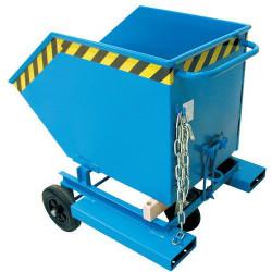 Benne basculante mobile BAUER 1000 L charge 300 kg avec entree de fourche KW-...