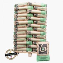 Lot de 62 sacs de 12,5 kg de granulés/pellets bois THERMOBOIS NEUF