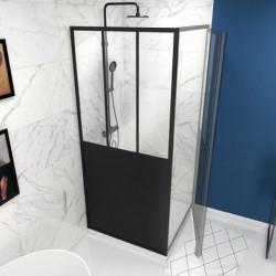 Paroi de douche de retour fixe - Verrière 80 x 200 cm AURLANE Fabrik FAC354...