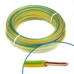 Couronne de 100 m câble de fil électrique gainé rigide H07V - U  SECTION FIL...