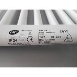 Radiateur sèche serviettes électrique 750 W ATLANTIC 831107 NEUF déclassé