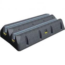 Paire de supports - Patin anti vibration SUMO 600 mm Petit rail 3858515 NEUFS