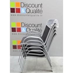 Lot de 5 Fauteuils - chaises extérieurs de salon de jardin empilables - Toile...