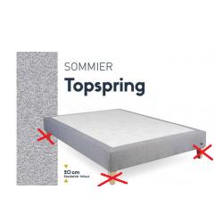 Sommier tapissier 160 X 200 X 20 cm THIRIEZ Top Spring Tweed à ressorts...