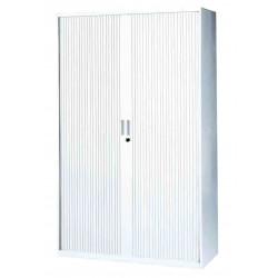 Armoire haute à rideaux 198 x 120 x 43 cm MT INTERNATIONAL Blanche avec ses...
